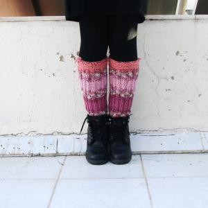 Colorful Boot Cuffs,striped knit bo..