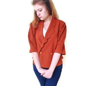 Vintage brunt orange ,Double Breast..